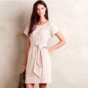 🌿 Anthropologie Gingham Dress